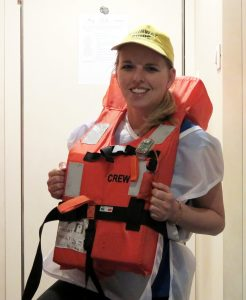 Záchranné vesty pre posádku.