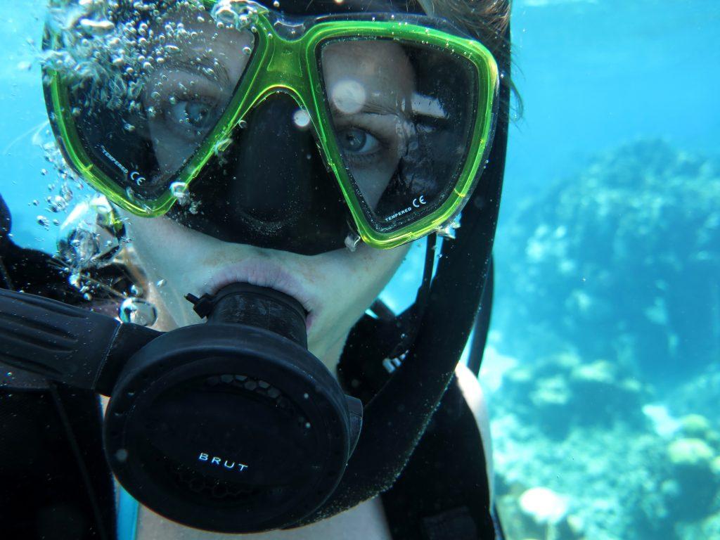 Potápanie na Roatáne.