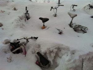 Bicykle v snehu - Helsinki