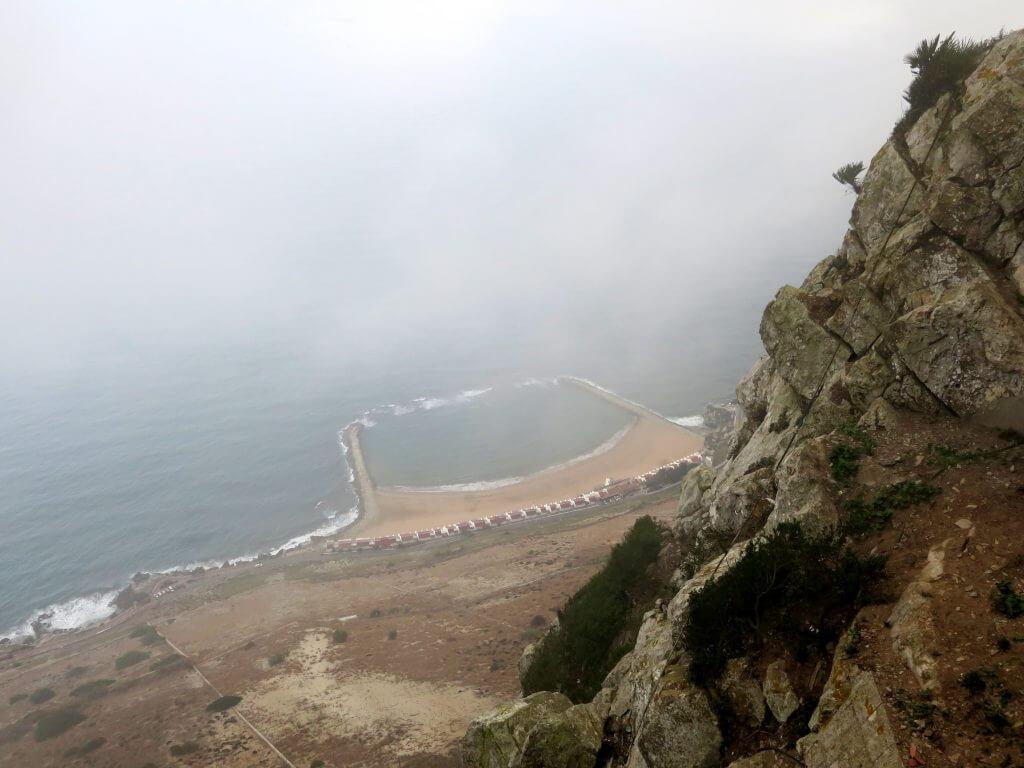 Pobrežie Gibraltáru z výšky