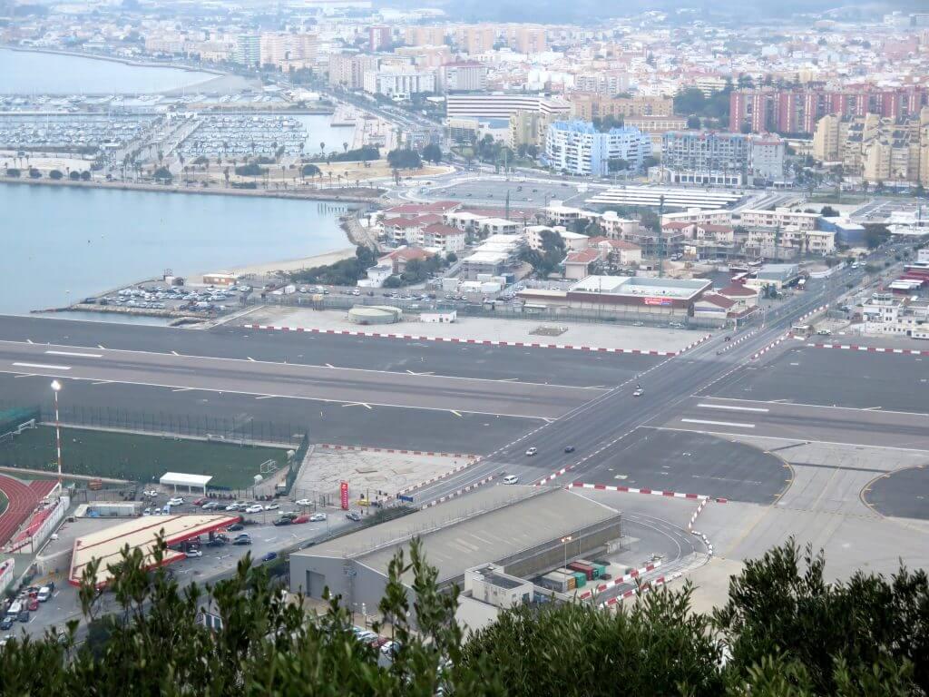 Letisko na Gibraltári z výšky