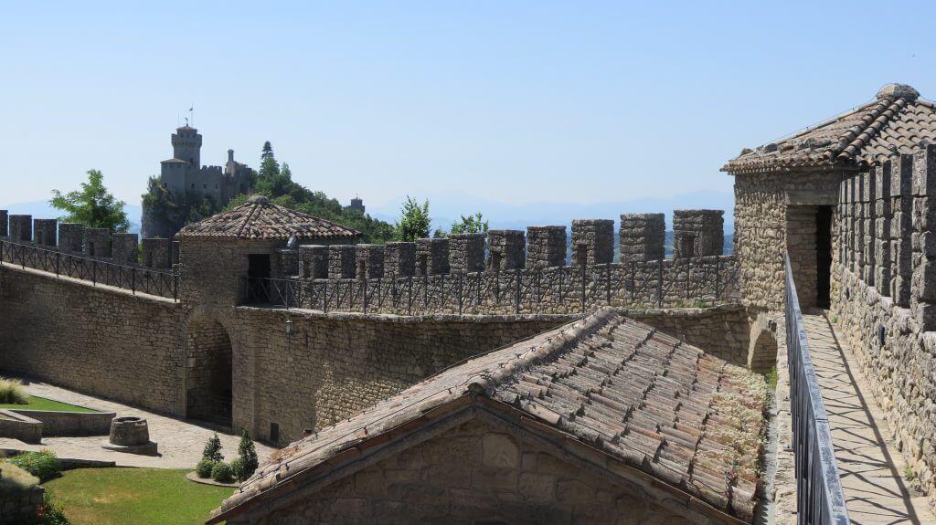 Hradby veže Guaita v San Maríne
