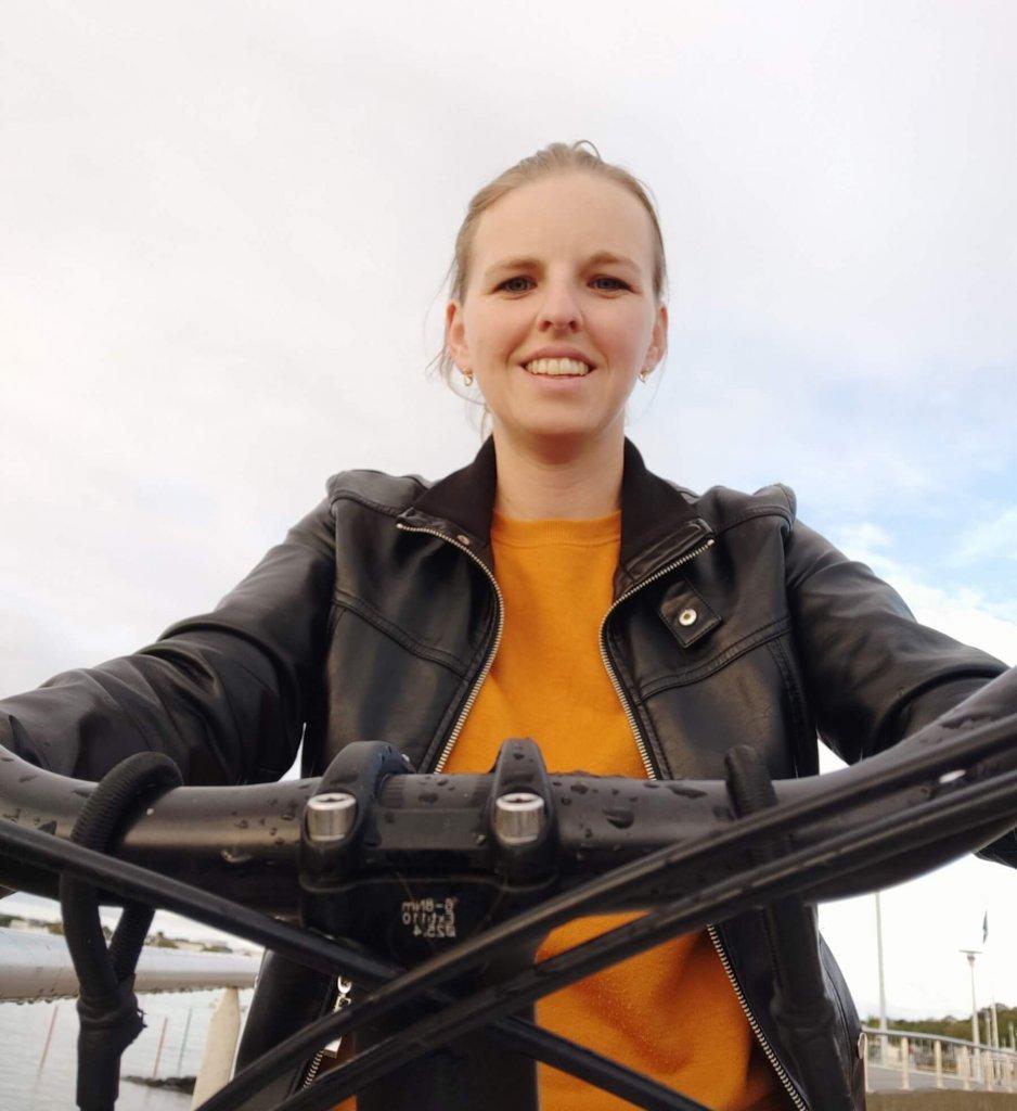 Osoba na bicykli
