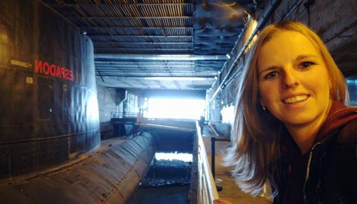 Ponorka L'Espadon, z vonku, v základni