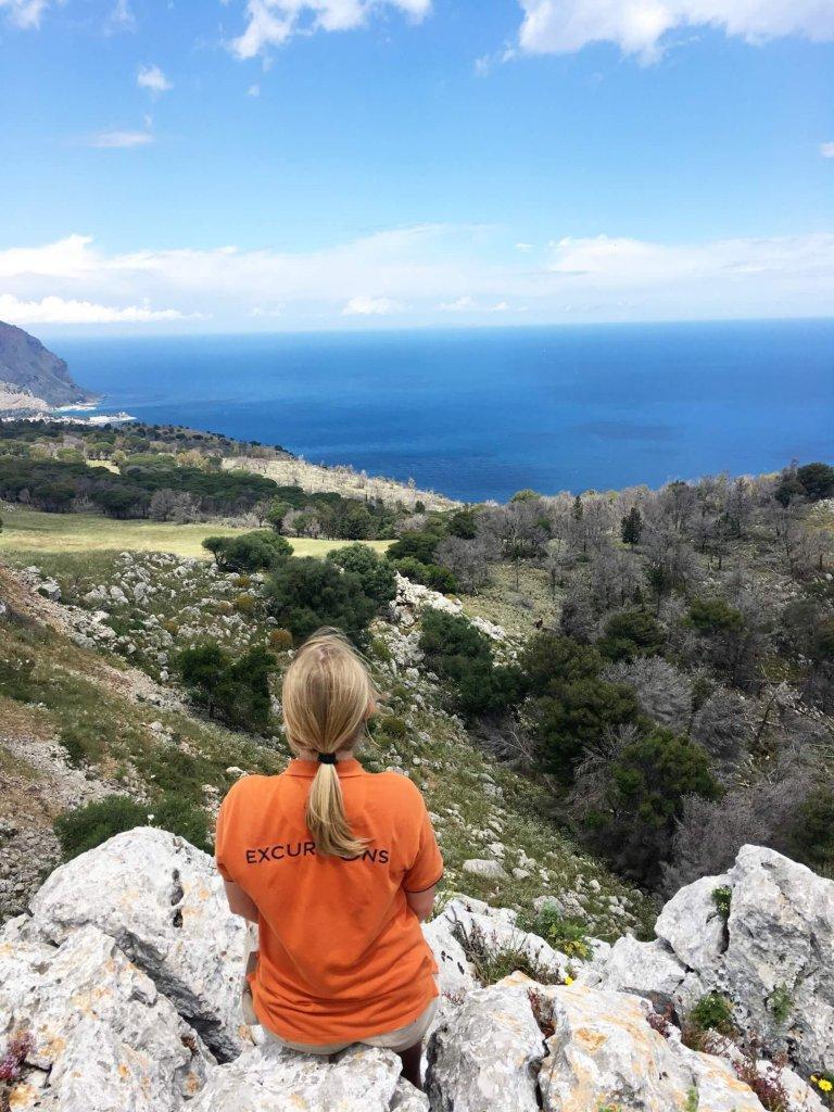 Výhľad z hory Pellegrino na Sicílii