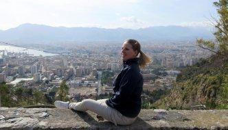 Výhľad na mesto Palermo z hory Pellegrino na Sicílii